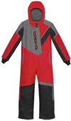 Choko Kiddies and Toddler Pilot One-Piece Snowmobile Suit - Red