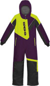 Choko Kiddies and Toddler Pilot One-Piece Snowmobile Suit - Plum