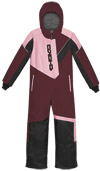 Choko Kiddies and Toddler Pilot One-Piece Snowmobile Suit - Burgundy