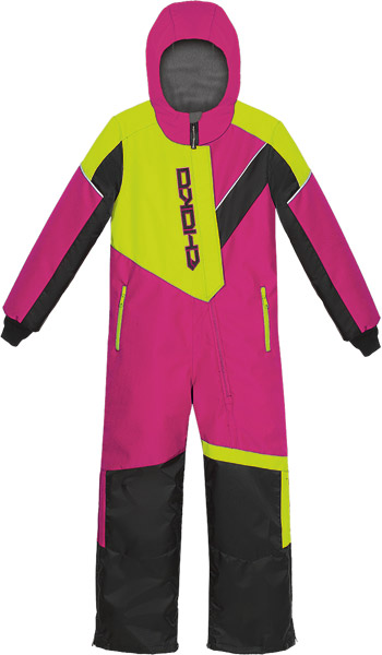 Choko Junior Pilot One-Piece Snowmobile Suit - Fuchsia