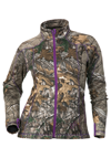 DSG Women's Performance Fleece Jacket by Divas Snow Gear - Realtree Xtra-Purple