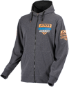 FXR Casual Race Division Hoodie - Charcoal Heather-Orange