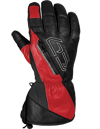 Choko Adventurer Leather Snowomobile Gloves w/Removable Liner - Red