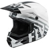 Fly Youth Kinetic Thrive Snowmobile Helmet - White-Black-Grey