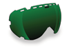 509 Aviator Goggle Lenses - Green Mirror / Rose Tint