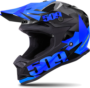509 Sale Altitude Helmet- Blue Triangle - Side View