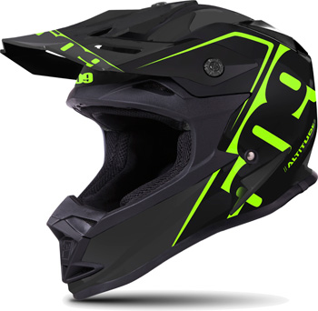 509 Sale Altitude Helmet- Lime - Side View