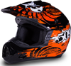 509 Snocross Helmet - Black- Orange