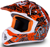 509 Snocross Helmet - Snocross Orange