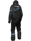Castle X Freedom Snowmobile Monosuit - Alpha Black-Process Blue Back
