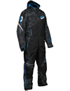 Castle X Freedom Snowmobile Monosuit - Alpha Black-Process Blue Front