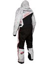 Castle X Freedom Snowmobile Monosuit - Alpha Gray-Red Back
