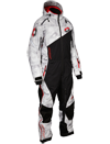 Castle X Freedom Snowmobile Monosuit - Alpha Gray-Red Front