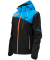 Castle X Women's Barrier G2 Tri-Lam Softshell Jacket - Black-Blue-Orange