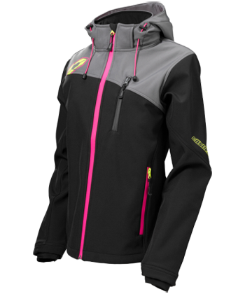 Castle X Women's Barrier G2 Tri-Lam Softshell Jacket - Black-Magenta