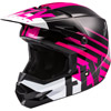 Fly Youth Kinetic Thrive Snowmobile Helmet - Pink-Black-White