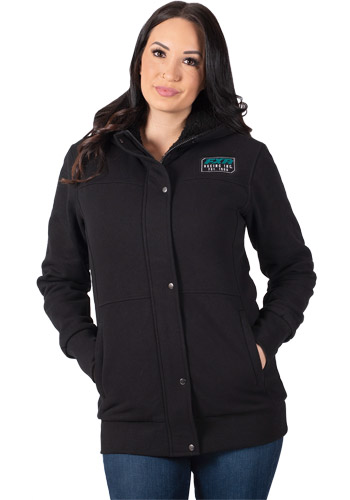 FXR Women's Aspen Sherpa Long Hoodie - Black-Teal