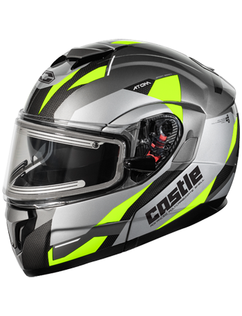 Castle X Atom SV Transcend Modular Snow Helmet w/Electric Shield - Hi Vis