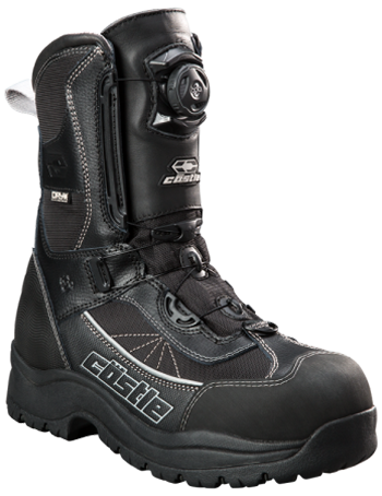 Castle X Charge Boa Snowmobile Boots - Black