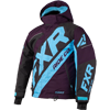 FXR Youth CX Jacket - Black-Plum-Sky Blue