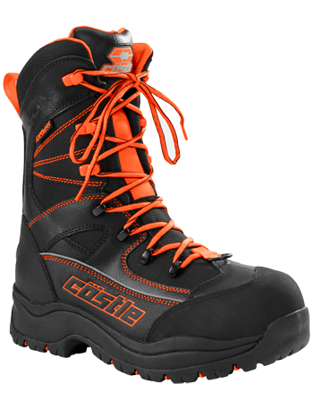 Castle X Force 2 Orange Snowmobile Boots