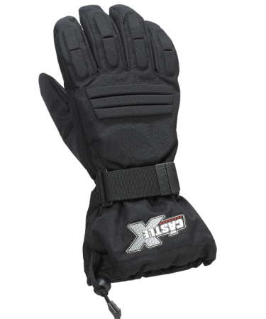 Castle X Youth Platform Snowmobile Gloves - Black