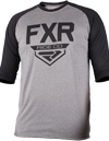 FXR Clutch Retro Tech Shirt 3/4 Sleeve - Grey Heather-Black