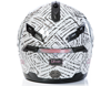 DSG GMAX GM54 Modular Aztec White Snowmobile Helmet by Divas Snow Gear - Back View