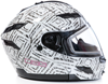 DSG GMAX GM54 Modular Aztec White Snowmobile Helmet by Divas Snow Gear - Side View