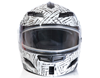 DSG GMAX GM54 Modular Aztec White Snowmobile Helmet by Divas Snow Gear - Front View