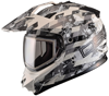 DSG GMAX GM11 Checked Out White Snowmobile Helmet