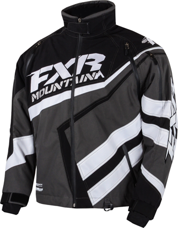 FXR Evelation CX Snowmobile Shell Jacket - Black-Charcoal