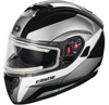 Castle X Atom SV Tarmac Modular Snowmobile Helmet w/electric Shield