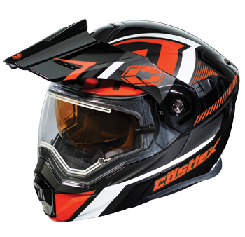 Castle X EXO-CX-950 Slash Modular Dual-Sport Snowmobile Helmet - Black-Red