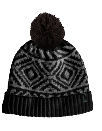 509 Fleece Pom Beanie - Grid