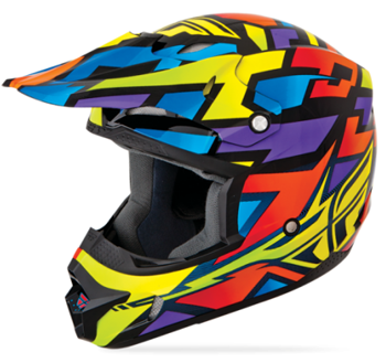 Fly Youth Kinetic Block Out Helmet  - Wild