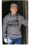 FXR Race Division Tech Pullover Hoodie - Grey Heather- Black