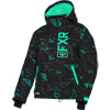 FXR Youth Fresh Jacket - Black-Mint Icon