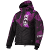 FXR Youth Fresh Jacket - Black-Plum Camo-White