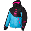 FXR Youth Fresh Jacket - Sky Blue-Black-Electric Pink