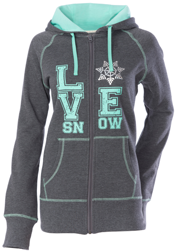 DSG Love Snow Zip Hoodie - Charcoal