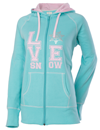 DSG Love Snow Zip Hoodie - Mint Green