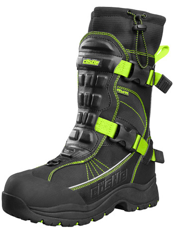 Castle X Barrier 2 Snowmobile Boots - Black-Hi Vis