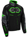 Castle X Blade G4 Snowmobile Jacket - Black-Charcoal-Green