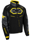 Castle X Blade G4 Snowmobile Jacket - Black-Charcoal-Yellow
