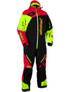 Castle X Freedom Lite Shell Snowmobile Monosuit - Black-Red-Hi Vis