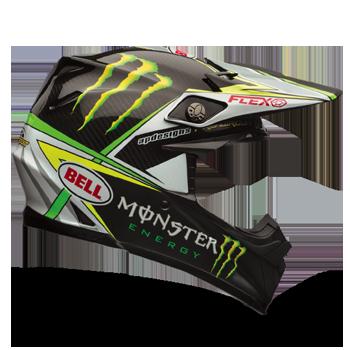 f1e1e538 Bell Moto-9 Carbon Flex Helmet - Pro Circuit Black-Green - Side View
