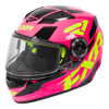 FXR Youth Nitro Core Helmet w/Dual Lens Shield - Fuchsia-Hi Vis-Black