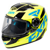 FXR Youth Nitro Core Helmet w/Dual Lens Shield - Hi Vis-Blue-Black