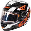 FXR Youth Nitro Core Helmet w/Dual Lens Shield - Black-Orange-White